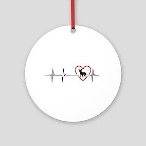 i love chihuahua Round Ornament