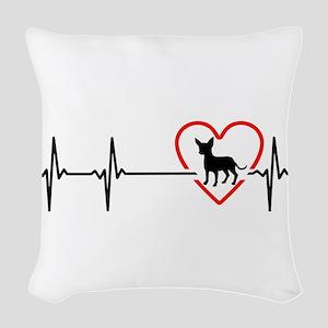 i love chihuahua Woven Throw Pillow