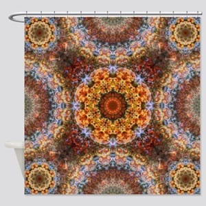 Grand Galactic Alignment Mandala Shower Curtain