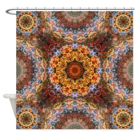 Grand galactic alignment mandala shower curtain by - Grand mandala ...