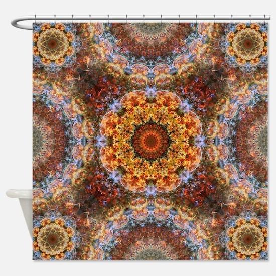 Grand Galactic Alignment Mandala Shower Curtain