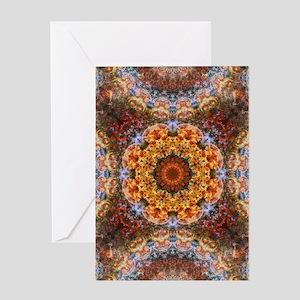 Grand Galactic Alignment Mandala Greeting Cards