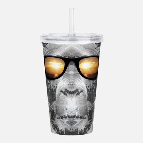 Bigfoot In Shades Acrylic Double-wall Tumbler