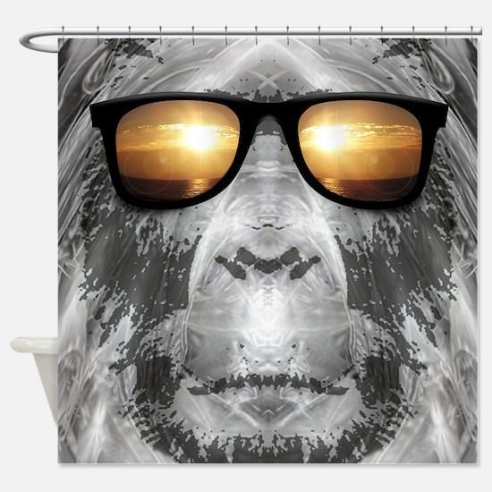 Bigfoot In Shades Shower Curtain