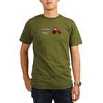 Farm Boy Red Tractor Organic Men's T-Shirt (dark)