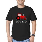 Farm Boy Red Tractor Men's Fitted T-Shirt (dark)