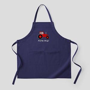 Farm Boy Red Tractor Apron (dark)
