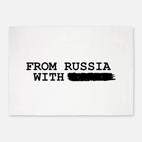 from russia with -------- 5'x7'Area Rug