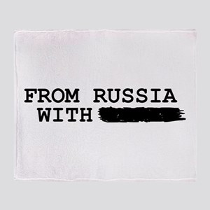 from russia with -------- Throw Blanket