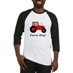 Farm Boy Red Tractor Baseball Jersey