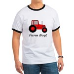 Farm Boy Red Tractor Ringer T