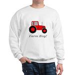 Farm Boy Red Tractor Sweatshirt