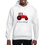 Farm Boy Red Tractor Hooded Sweatshirt