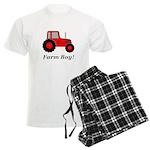 Farm Boy Red Tractor Men's Light Pajamas