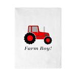 Farm Boy Red Tractor Twin Duvet