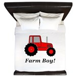 Farm Boy Red Tractor King Duvet