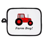 Farm Boy Red Tractor Potholder