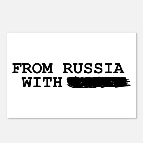 from russia with -------- Postcards (Package of 8)