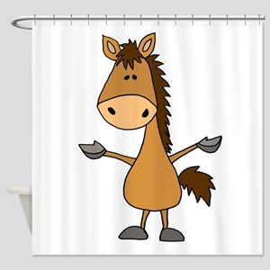 Funny Bay Horse Cartoon Shower Curtain