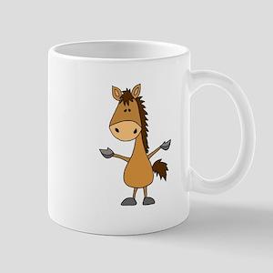 Funny Bay Horse Cartoon Mugs