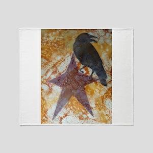 Star Crow Throw Blanket