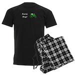 Farm Boy Green Tractor Men's Dark Pajamas