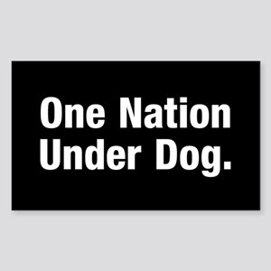 One nation under Dog Sticker (Rectangle)