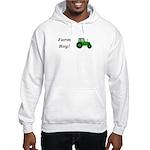 Farm Boy Green Tractor Hooded Sweatshirt