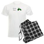 Farm Boy Green Tractor Men's Light Pajamas