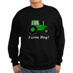 Farm Boy Green Tractor Sweatshirt (dark)