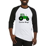 Farm Boy Green Tractor Baseball Jersey