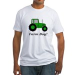 Farm Boy Green Tractor Fitted T-Shirt