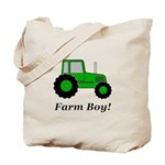 Farm Boy Green Tractor Tote Bag