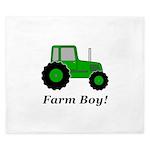 Farm Boy Green Tractor King Duvet