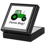 Farm Boy Green Tractor Keepsake Box