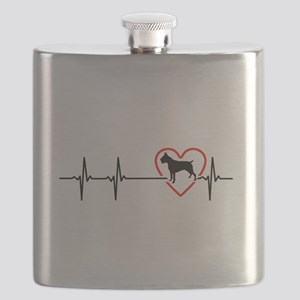 i love Boxer Flask
