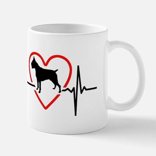i love Boxer Mugs