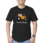 Farm Boy Orange Tracto Men's Fitted T-Shirt (dark)