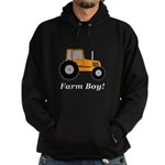 Farm Boy Orange Tractor Hoodie (dark)