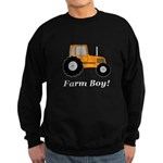 Farm Boy Orange Tractor Sweatshirt (dark)