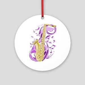 Saxophone Round Ornament