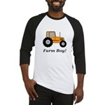 Farm Boy Orange Tractor Baseball Jersey