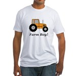 Farm Boy Orange Tractor Fitted T-Shirt