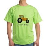 Farm Boy Orange Tractor Green T-Shirt