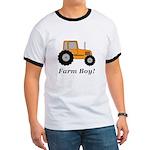Farm Boy Orange Tractor Ringer T