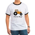 Farm Boy Orange Tractor Ringer T
