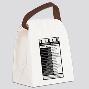 Bible emergency numbers Canvas Lunch Bag