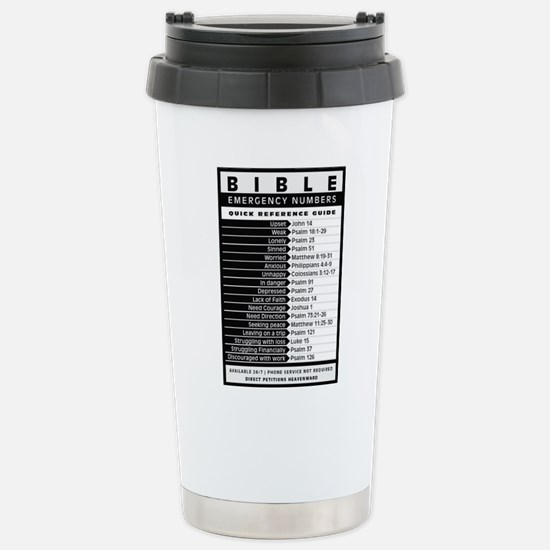 Bible emergency numbers Stainless Steel Travel Mug