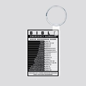 Bible emergency numbers Keychains