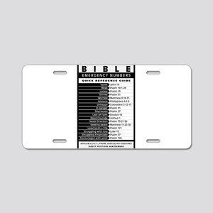 Bible emergency numbers Aluminum License Plate